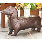 Hand-Hammered Iron Dachshund Foot Stool