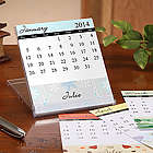 Changing Seasons Personalized Desk Calendar