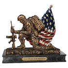 God Bless Our Marines Cold-Cast Bronze Tribute Sculpture