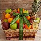 Fresh and Dried Tropical Fruit Sympathy Gift Basket