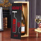 House Wine Personalized Wood Box