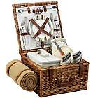 Santa Cruz Picnic Basket for Two with Picnic Blanket