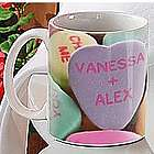 Personalized Candy Hearts Mug