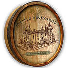 Personalized Vintage Vineyard Quarter Barrel Bar Sign