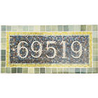 Personalized 59th & Lex Subway Tile House Sign with Stake
