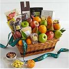 Peaceful Wishes Fruits and Snacks Gift Basket