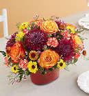 Autumn Gathering Large Bouquet in Pfaltzgraff Casserole Dish