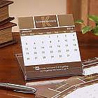 Inspirational Quotes Monogram Desk Calendar