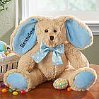 Blue Personalized Stuffed Easter Bunny