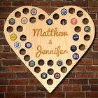 Personalized Love For Beer Cap Map Bar Sign