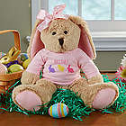 Girl's Personalized Stuffed Easter Bunny Plush Doll