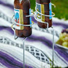 2 Picnic Brew Stix Chrome Bottle Holder Stakes