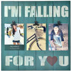 I'm Falling For You Blue Clip Collage Frame