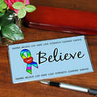 Personalized Autism Awareness Checkbook Cover
