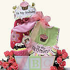 Baby's 1st Birthday Gift Basket for Girl