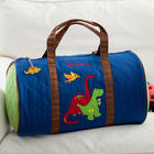 Embroidered Dinosaurs Duffel Bag