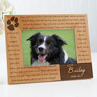 Paw Prints On Our Heart Personalized Pet Memorial Picture Frame