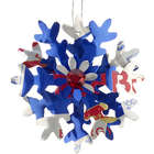 Red Bull Energy Drink Personalized Snowflake Christmas Ornament