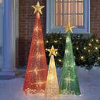 3 Christmas Lantern Trees