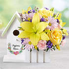 Yellow Happiness Blooms Large Birdhouse Bouquet