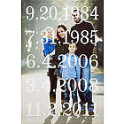 Our Numbers Personalized Photo Canvas Print