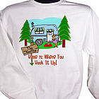 Personalized Home Is Where You Hook It Up Sweatshirt