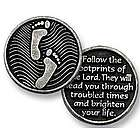 Footprints Christian Pocket Token
