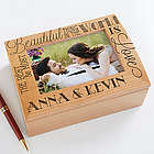 Love Quotes Personalized Wood Photo Memory Box