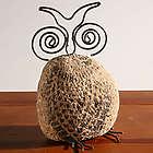 Stenciled Stone Owl Statue