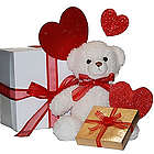 Beary Much Love Teddy Bear and Candy Gift Set