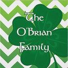 Personalized Modern Shamrock Canvas