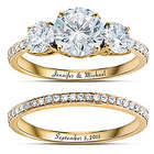 Personalized Gold-Plated Diamonesk Bridal Ring