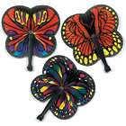 12 Monarch Butterfly-Shaped Folding Hand Fans