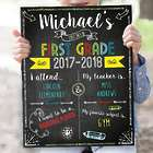 Personalized First Day of School Sign