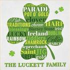 Personalized Lucky Shamrock Canvas