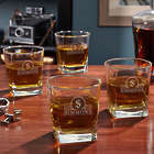 4 Canton Personalized Rutherford Whiskey Glasses