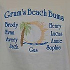 Family Beach Bums Personalized Shirt