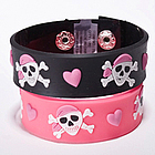 Pink Pirate Rubber Bracelet
