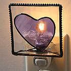 Amethyst Heart Night Light