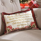 Holiday Faux Silk Throw Pillow
