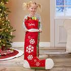 Joyful Flurries Personalized Oversized Christmas Stocking