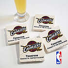 NBA Logo Personalized Tumbled Coaster Set