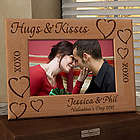 Personalized Hugs & Kisses Wooden Picture Frame