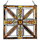 Southwestern Mission-Style Stained Glass Panel