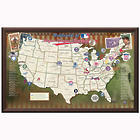 Personalized Framed MLB Map with Pins and Flags