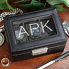 Engraved Leather Watch Box