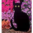 Sitting Black Cat Garden Accent