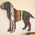 Reclaimed Wood Dog Wall Art