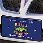 Personalized Fishing Club License Plate