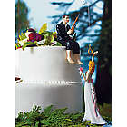 Fishing Groom and Bride Wedding Cake Topper